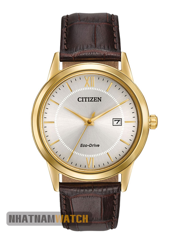 Đồng hồ Citizen AW1232-12A Eco-drive Leather