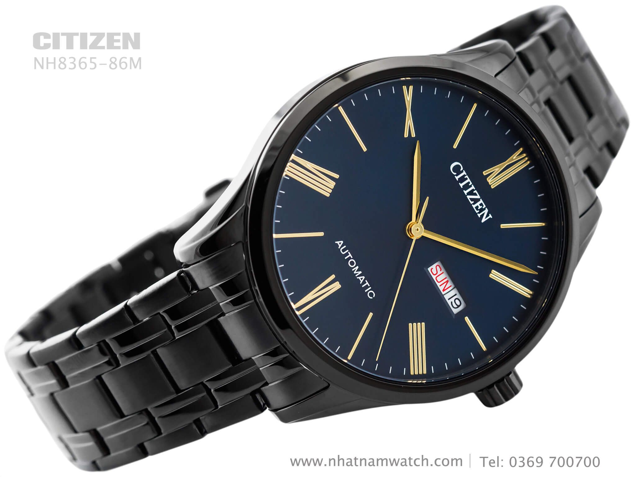 Đồng hồ Citizen NH8365-86M Automatic Black