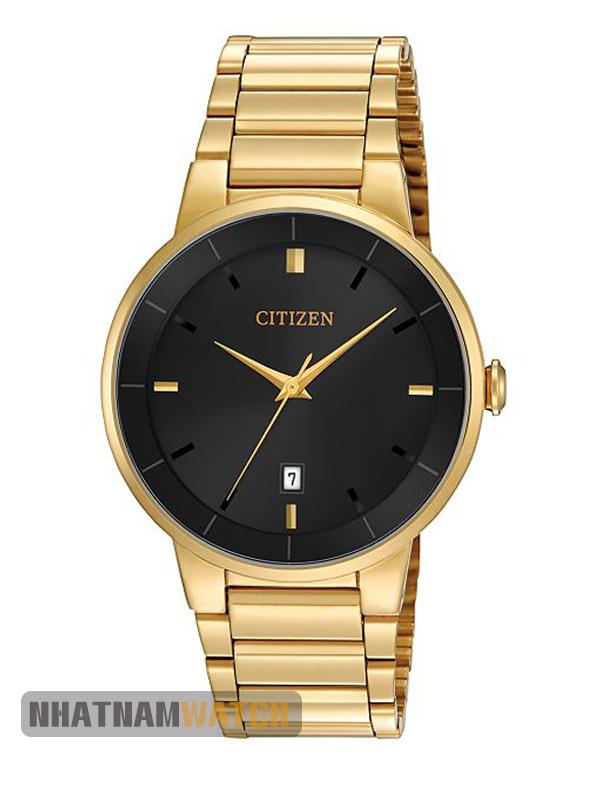 Đồng hồ Citizen BI5012-53E Goldtone Black Dial