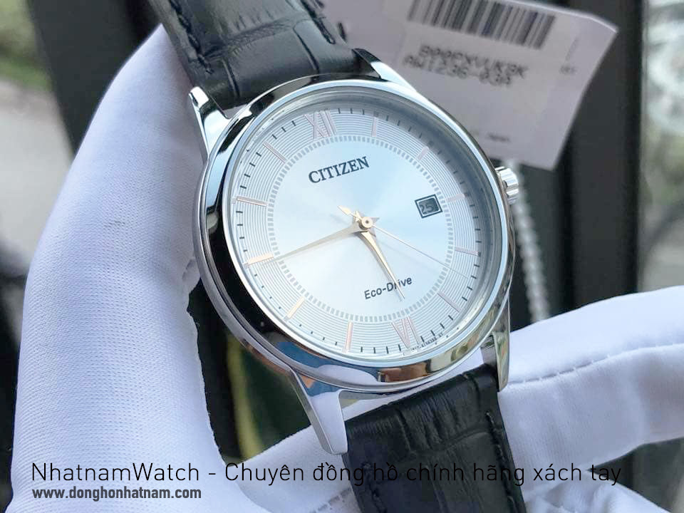 Đồng hồ Citizen AW1236-03A Eco-drive leather