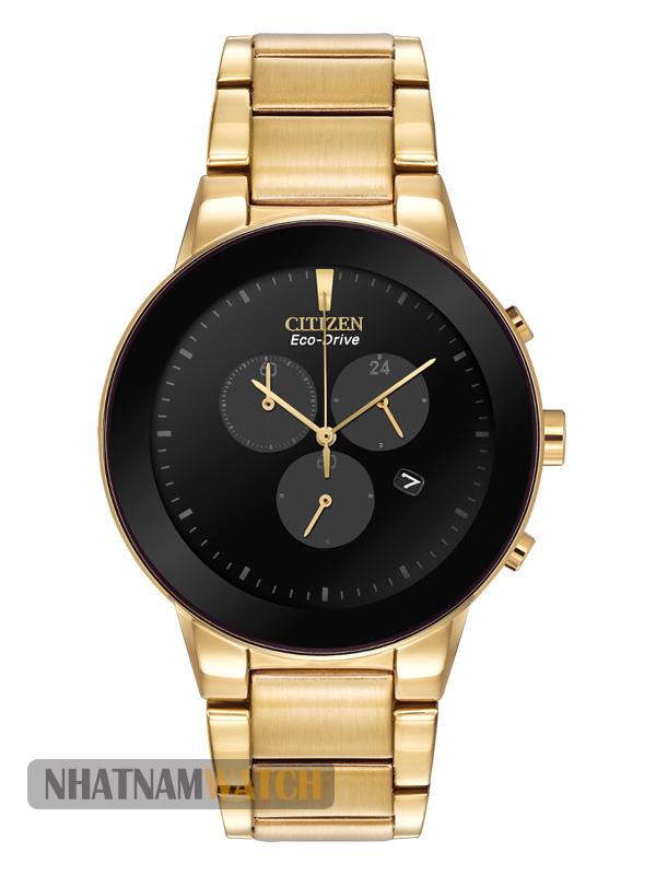 Citizen AT2242-55E Eco-Drive Gold Chronograph