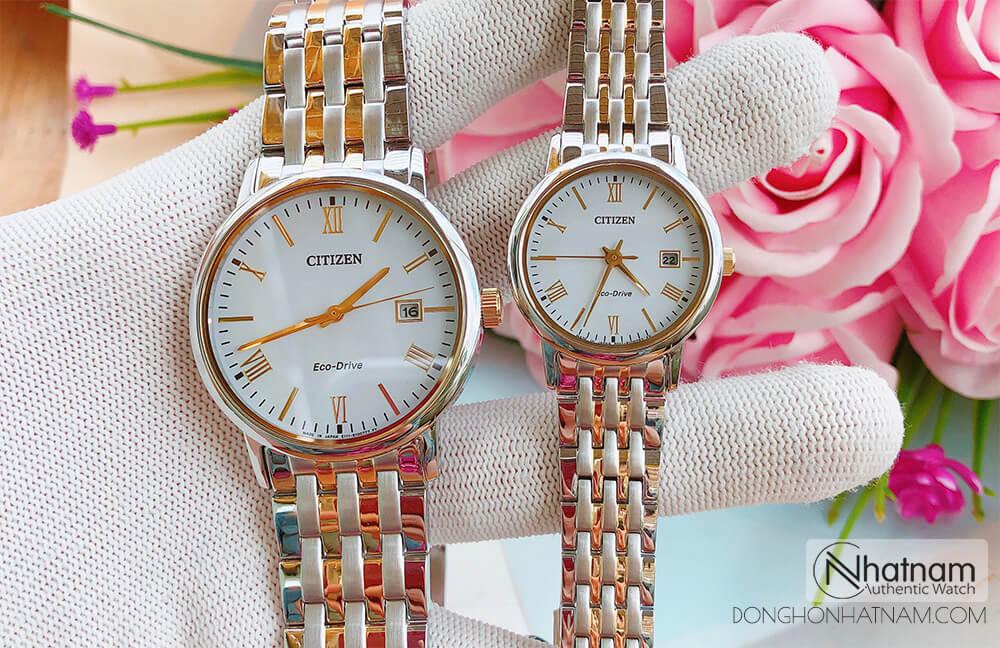 Đồng hồ cặp Citizen BM6774-51A & EW1584-59A