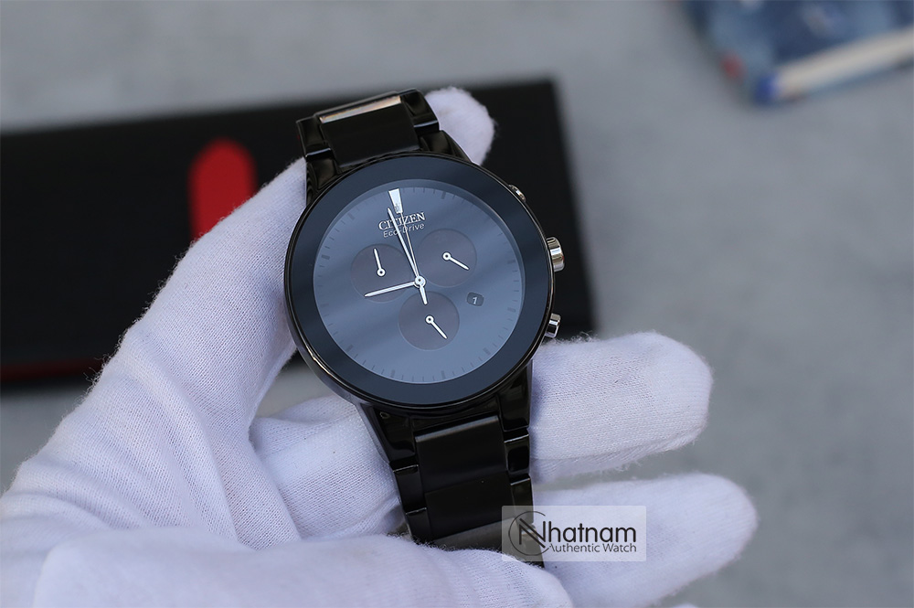 Citizen AT2245-57E Eco-drive Chronograph Black
