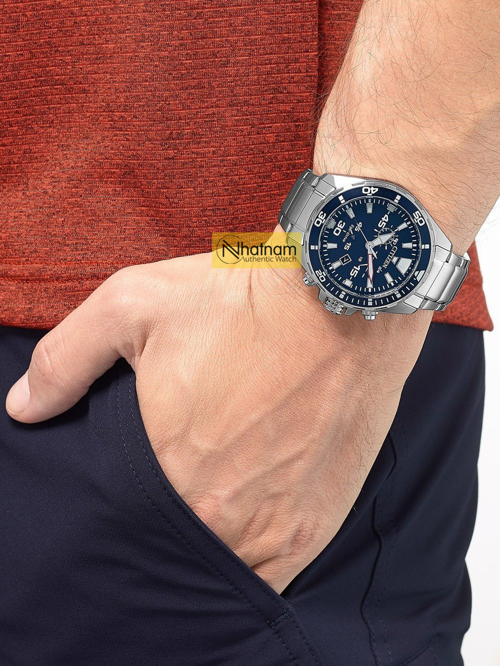 Citizen AT2431-87L Eco-Drive Chronograph 43mm