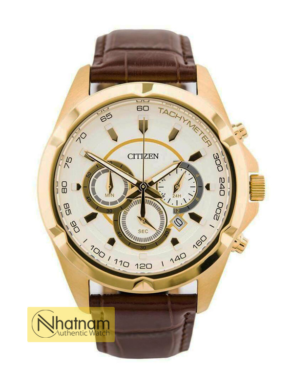 Citizen AN8043-05A Chonograph Leather 42mm
