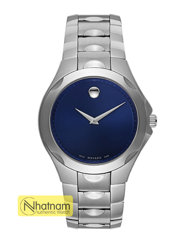 Movado Luno 0606380 Stainless Steel Blue Dial