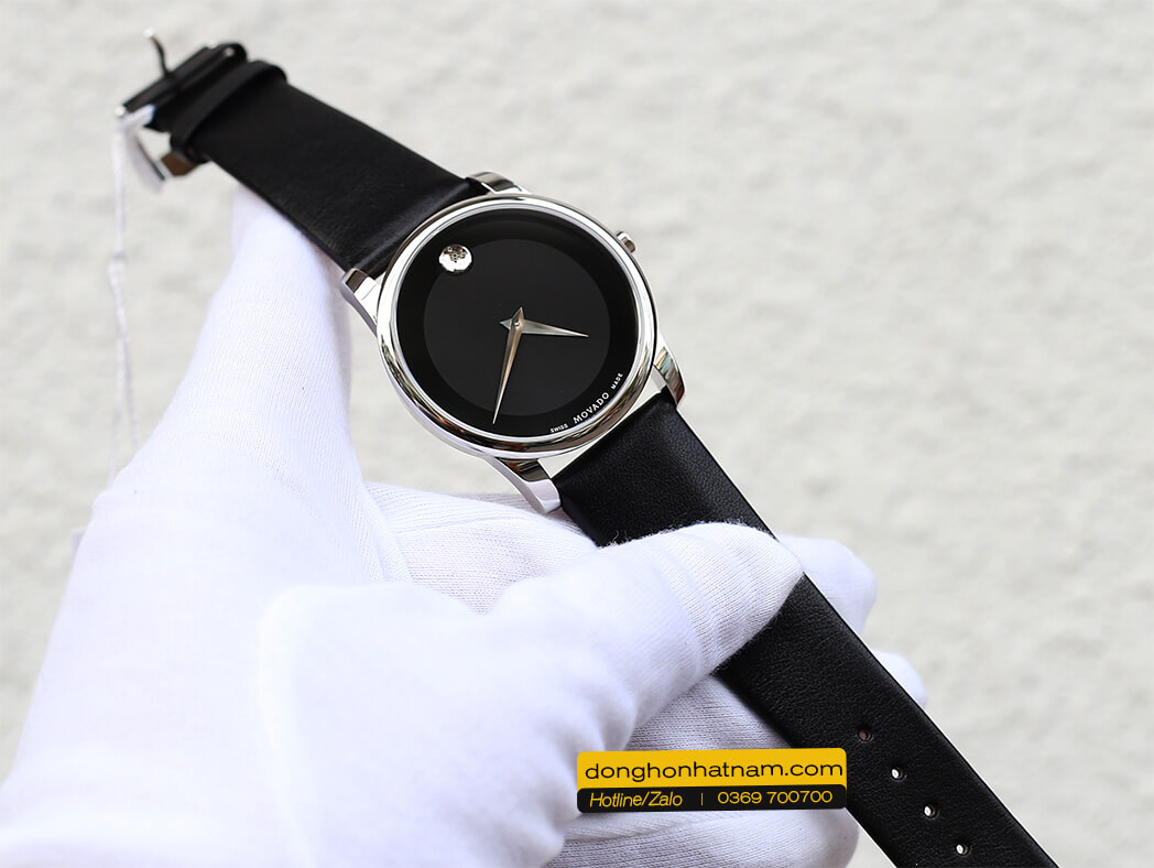 Movado Museum 0606502 Black Dial Leather 40mm