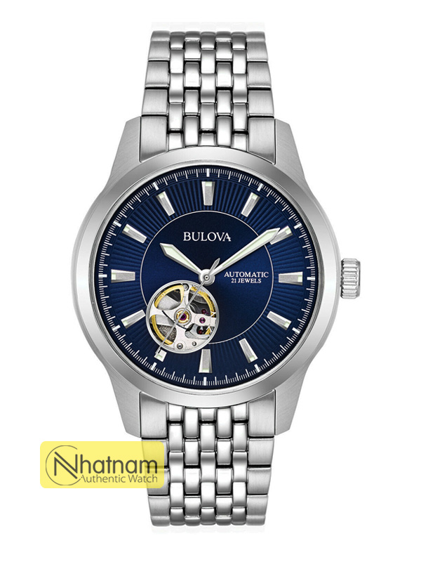 Bulova 96A189 Automatic Blue Dial Steel