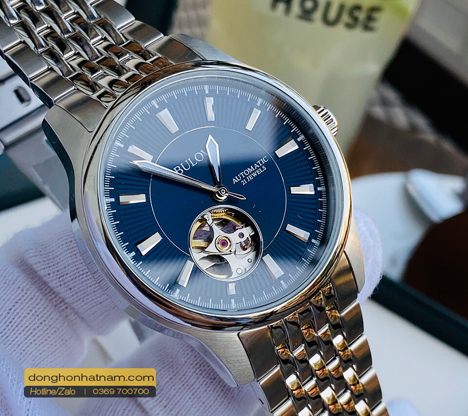 Bulova 96A189 Automatic Blue Dial Steel