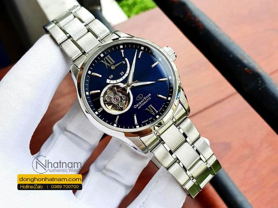 Orient Star Rk At0002l Open Heart Blue