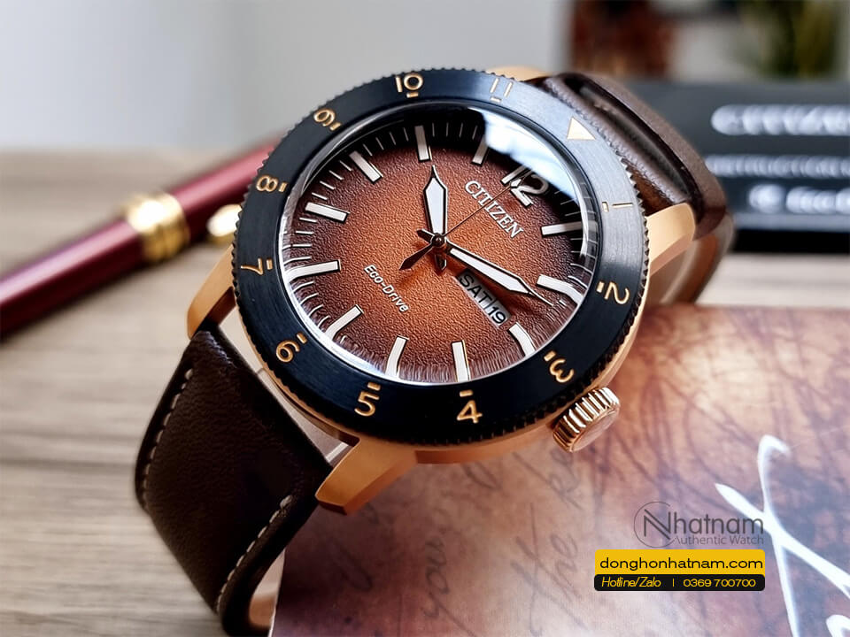 Citizen Aw0079 13x Leather
